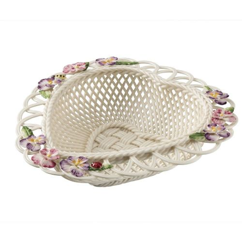 Belleek China Violet Basket